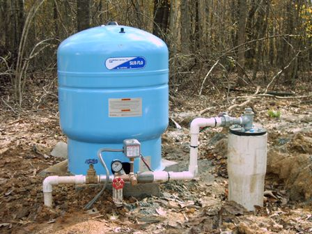 water well tank hook up